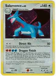 Pokemon Diamond & Pearl Secret Wonders Salamence Holofoil Card 18/132
