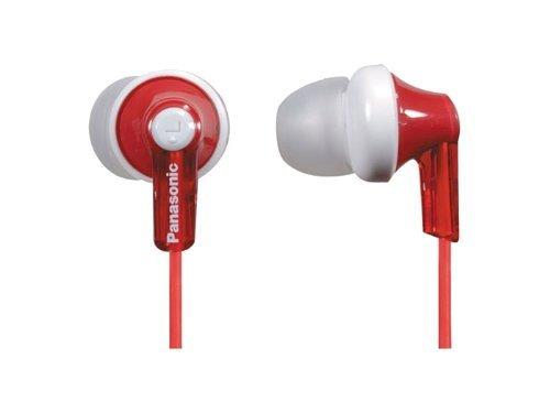 Panasonic RPHJE120R In-Ear Headphone, Red