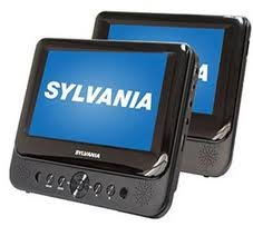 "Sylvania 7"" Dual Screen Portable DVD Player"