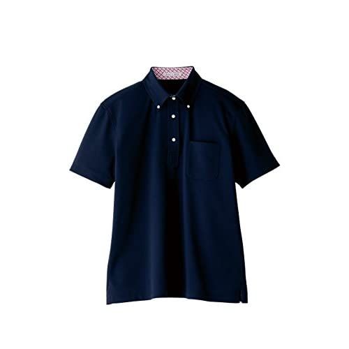 (フェイスミックス)FACEMIX 吸水速乾メンズポロシャツ(チェック) FB5023M 8 ネイビー 3L