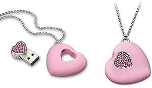 Swarovski USB Heart, Light Rose