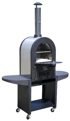 La Hacienda 56130Us Stainless Steel Construction Romana Pizza Oven, 49-3/5 By 74-Inch, Black