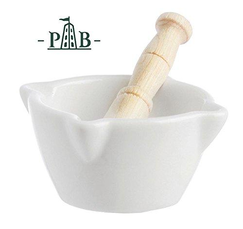 """La Porcellana Bianca Preparazione White Ceramic Mortar & Pestle 6cm/2.3"""" - P500552005"""