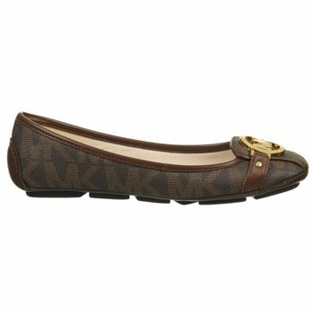 Michael Kors Fulton Moccasin Women'S Leather Flats Brown Size 8