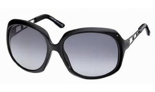 Roberto Cavalli Womens Rc522Ssw01B Oversized Sunglasses,Black Frame/Smoke Lens,One Size