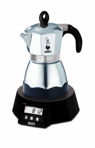 Easy Timer elektrischer Espressokocher für 3 Tassen / Alu