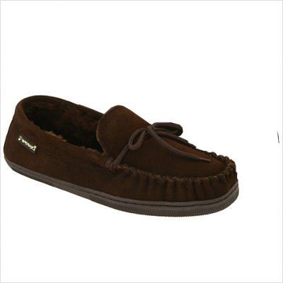 Cheap Men's Moccasin Slipper in Chocolate Color: Chocolate, Size: 7 (401M-CHOC-070)