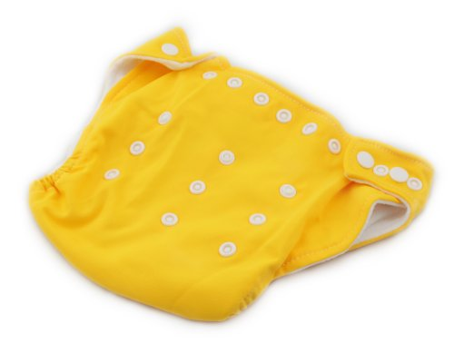 BONAMART ® New Adjustable Size Unisex Reusable Baby Girl Boy Washable Cloth Nappy Diaper Yellow
