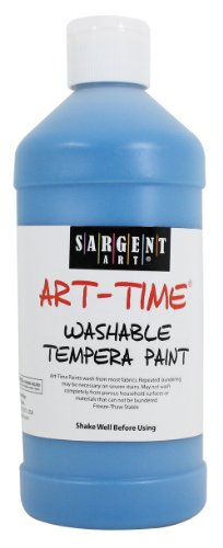 Sargent Art 22-3461 16-Ounce Art Time Washable Tempera, Turquoise