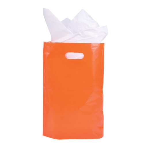 "8.75"" X 12"" Orange Plastic Bags Case Pack 5"