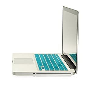 "TopCase® AQUA BLUE Keyboard Silicone Cover Skin for Macbook 13"" Unibody / Macbook Pro 13"" 15"" 17"" with or without Retina Display + TOPCASE® Logo Mouse Pad"