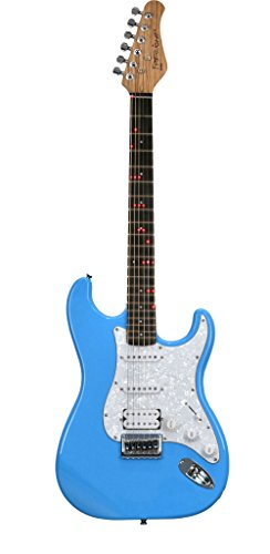 Fretlight Traditional Electric Guitar With Built-In Led Lighted Learning System, Powder Blue