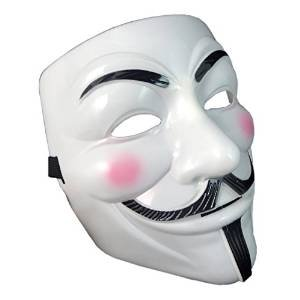 Fancy Dress Adults PVC Quality Mask with velcro eslasticated strap V for Vendetta Guy Fawkes Face Mask Fancy Halloween available in 1 2 5 and 10 Multip-packs Costumeplay by Ultra (1 Mask)