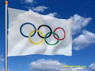 Olympic Rings 5'x3' Flag - TOP Quality