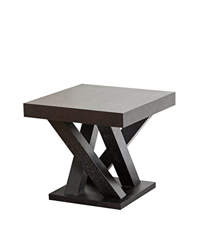 Abbyson Living Kinlin Wood End Table, Brown