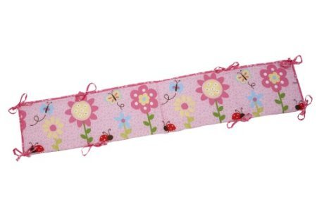 Little Bedding Traditional Padded Bumper, Miss Ladybug