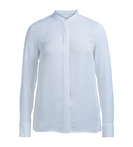 Michael Kors Camicia manica lunga seta Bianca collo coreana