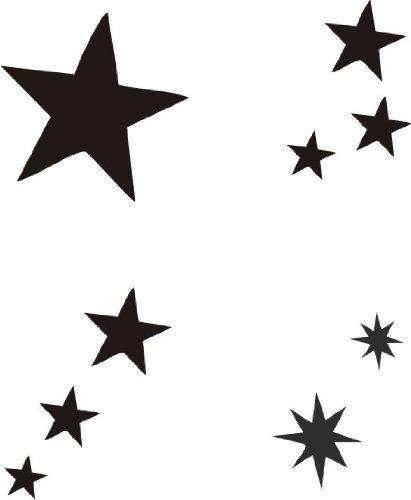 eulenspiegel selbstklebe tattoo schablonen set sterne by eulenspiegel profi schminkfarben gmbh. Black Bedroom Furniture Sets. Home Design Ideas
