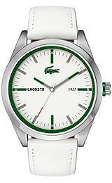 Lacoste Montreal White Dial White Leather Mens Watch 2010595