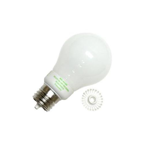 Litetronics 49870   MB 501DP 5W A19 WH PW Cold Cathode Screw Base Compact Fluorescent Light Bulb