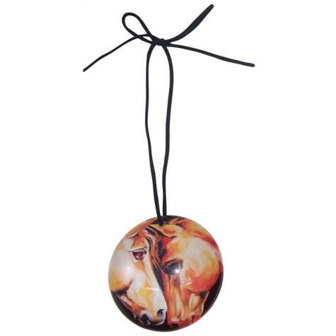 Gentle Spirits Theme Ball Ornament with Two Horses Nuzzling Decoration