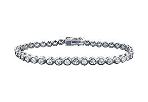 Diamond Tennis Bracelet : Platinum - 4.00 CT Diamonds