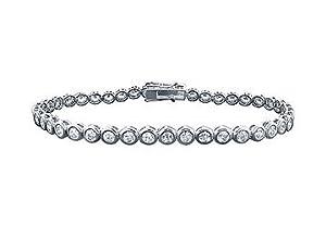 Diamond Tennis Bracelet : Platinum - 4.00 CT Diamonds