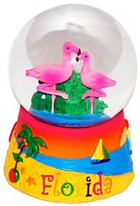 45MM Small, Florida Snow Globes, Florida Souvenirs - Snowglobe Florida