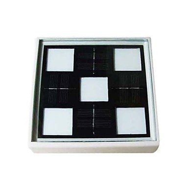 10 - Led Artistic Glass Underground Lights In Square Solar Powered