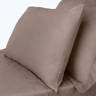 "400 Thread Count 100% Egyptian Cotton Solid Taupe Twin Xl 20"" Deep Pocket Fitted Sheet +2 Pillow Cases front-986633"