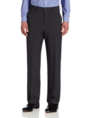 Van Heusen Men's Flat Front Straight Fit Crosshatch Pant, Grey, 30W x 30L (Van Heusen Dress Pants compare prices)