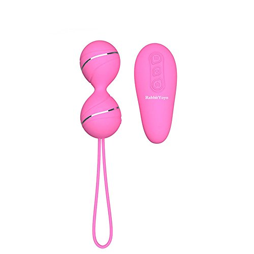 RabbitYoyo Female Vibrating Egg 7 Kinds Strong Vibration Mode USB Rechargeable Waterproof Love Egg Wireless Remote Control Vibrator,Pink