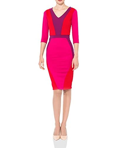 MAIOCCI Kleid rot/pink