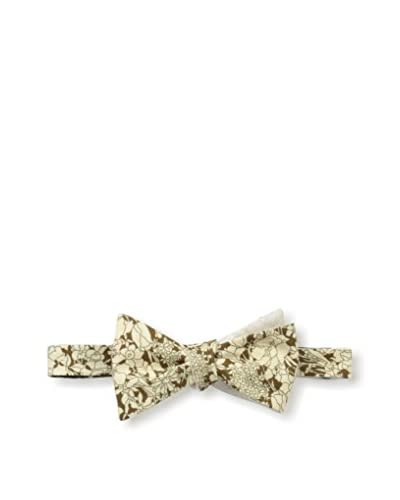 Cotton Treats Men's Christopher Hawaiian/Solid Linen Regular Bow Tie (Reversible)