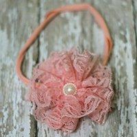 Vintage Lace Flower Headband (Coral)