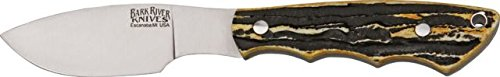 Bark River Mini Canadian Fixed Blade Knife,2.75In,A-2 Tool Steel Blade,Antique Stag Bone 03-133Bas