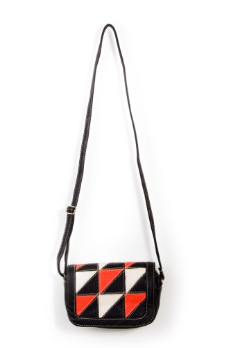 Simply Triangles Shoulder Bag in Orange