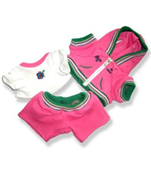 "Pink Sweat Suit 8 Inch - 6043 Fits 8"" - 10"" bears, includes Build a Bear, The Bear Mill, and Stuff your own Animals."