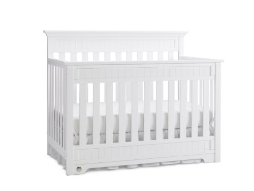 Fisher-Price Lakeland 5-in-1 Convertible Crib, Snow White