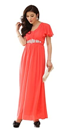 JK2 - Chiffon Robe de soirée 9502 rouge M