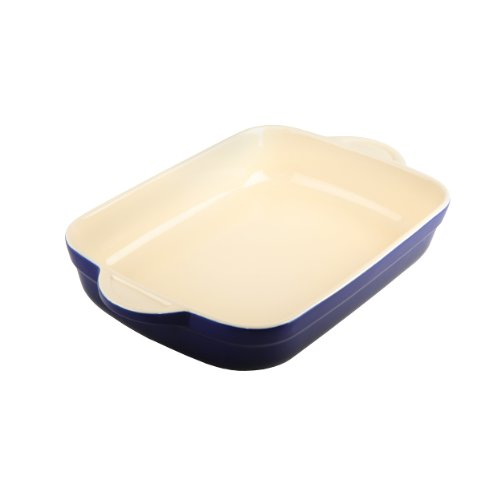 Denby Oti-573 Oven To Table Oblong Casserole/Lasagna, 3.1-Liter, Blue