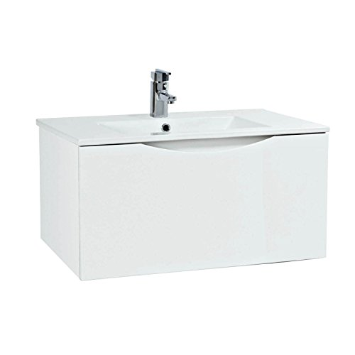 Phoenix Malmo 75 Wall Mounted Unit & Basin - White FU056