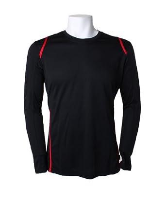 Kustom Kit Gamegear Cooltex Long Sleeve T-Shirt Black/Red M