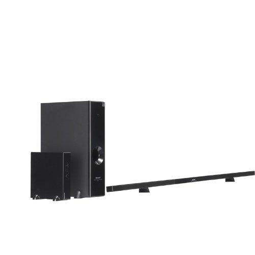 Sharp Htsl77 2.1 Channel Slim Sound Bar System With Wireless Subwoofer front-557143