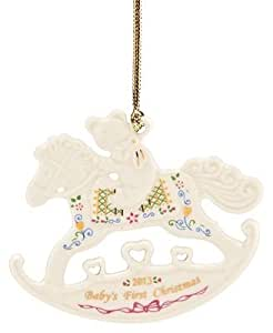 Lenox Christmas Ornament, Exclusive 2013 Baby's First Rocking Horse