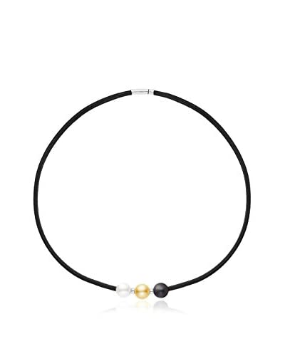 Manufacture Royale des Perles du Pacifique Halskette  Sterling-Silber 925