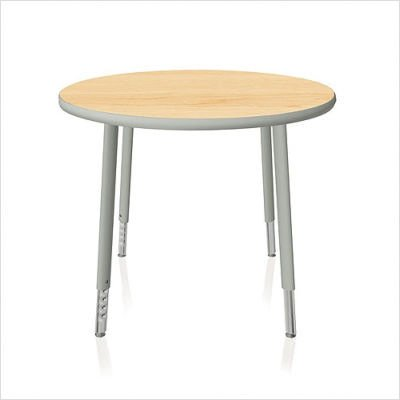 Intellect Series Round Activity Table with Adjustable Legs Size: 48""
