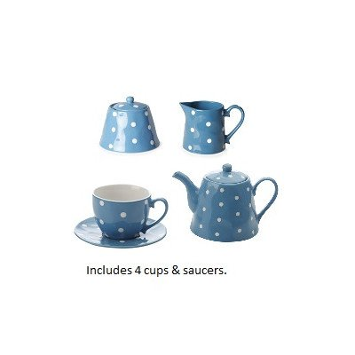 11 Piece Tea Kettle Set Color: Sky