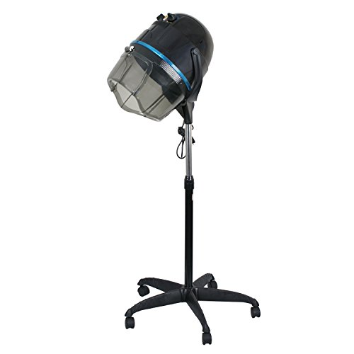 Professional 1300W Adjustable Hooded Floor Hair Bonnet Dryer Stand Up Rolling Base with Wheels Salon Equipment (Salon Bonnet Hair Dryer compare prices)