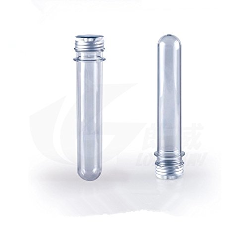 Plastic Tube With Aluminum Screw Cap Package Bottle PET Packing Tube Candy Jar 25x142mm 40ml Pack 25, In 8-19days For US CA AU Buyer (Ca 25 compare prices)